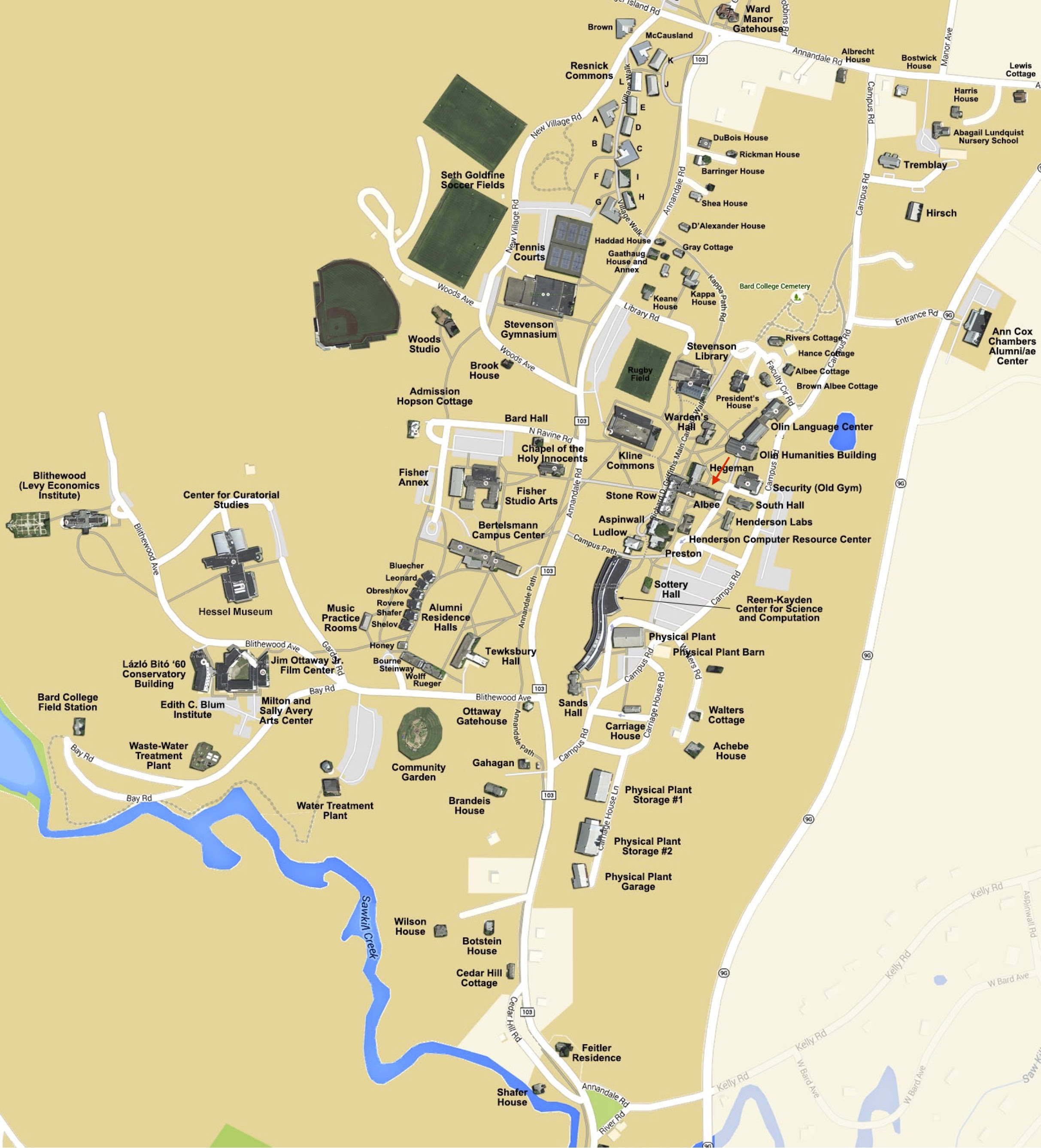 Bard College Campus Map | Earth Map