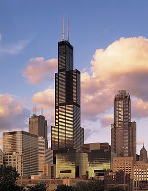 Willis Tower, completed in 1973, introduced th...
