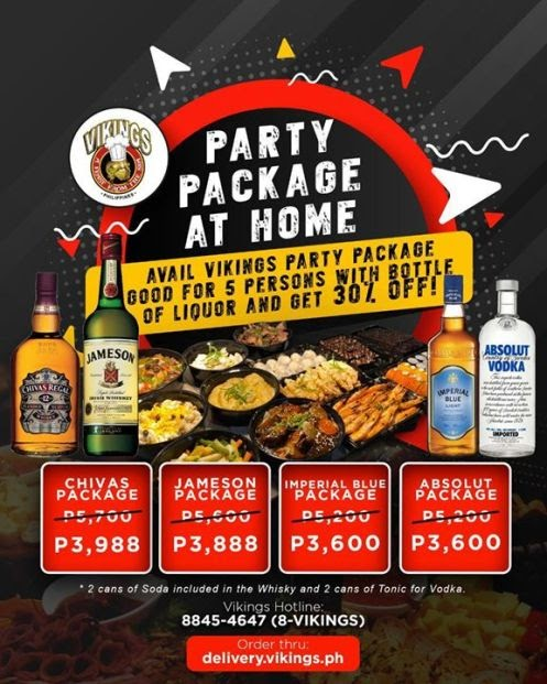 Enjoy Vikings' party package set at home with 30% off