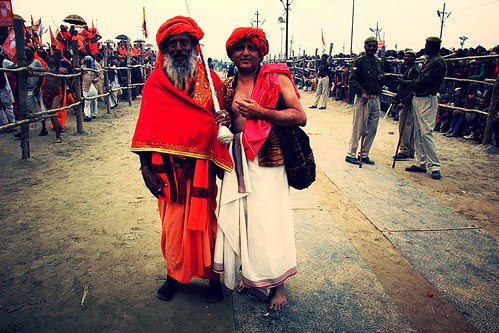 My Naga Guru And Me At Shahi Snan Maha Kumbh by firoze shakir photographerno1