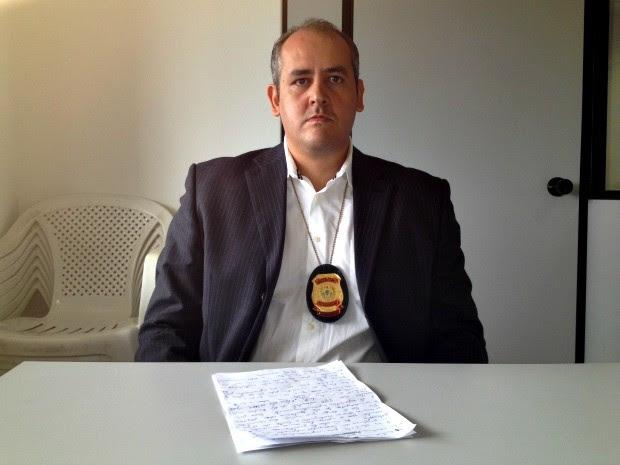 Delegado Leonardo Santa Bárbara (Foto: Tácita Muniz/G1)