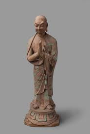 Kasyapa, Pupil of Buddha: Dunhuang 8th – 9th century AD Loess, clay, wood, paint