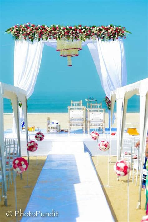 Stunning Indian Beach Wedding   Destination Wedding Details