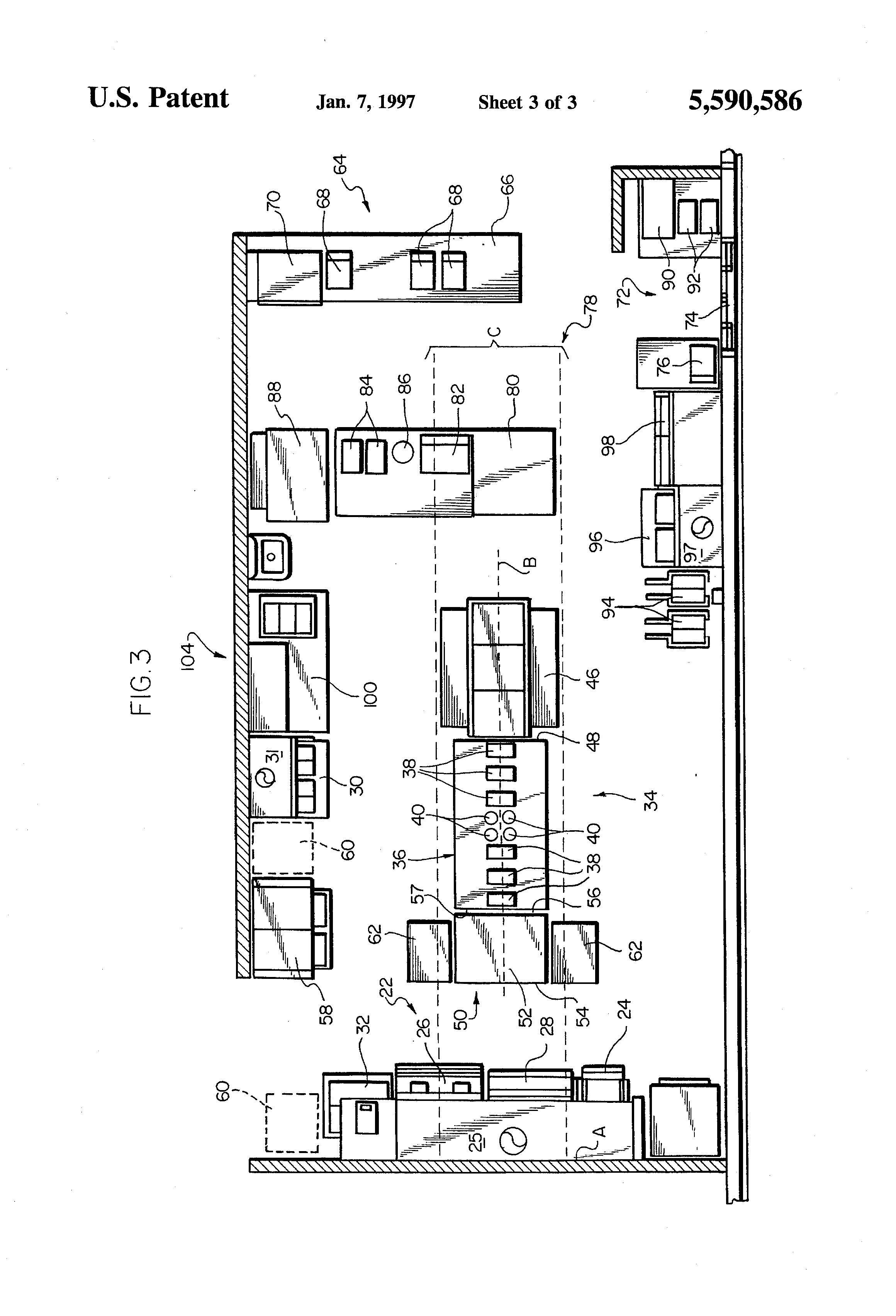 Patent US5590586 - Kitchen layout, system - Google Patents