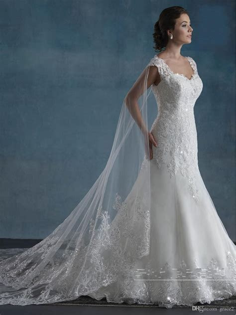 Cape Wedding Dresses 2017 Mary's Bridal with Detachable