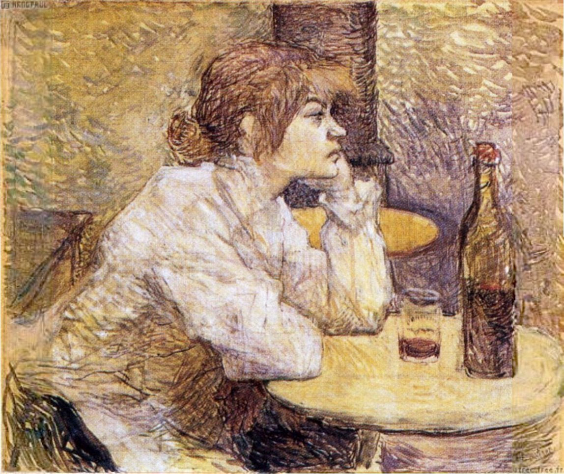 "Portrait of Suzanne Valadon ""The Hangover"" by Toulouse-Lautrec"