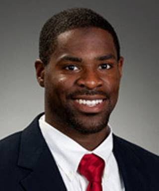 A photo of Brentley Vinson from the Liberty University football media guide pages, dated May 3, 2012.