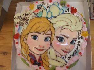 ケーキ工房nakaoの日記 アナと雪の女王イラストケーキ