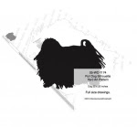 Puli Dog Silhouette Yard Art Woodworking Pattern - fee plans from WoodworkersWorkshop® Online Store - Puli,Komodore,dogs,pets,animals,yard art,painting wood crafts,scrollsawing patterns,drawings,plywood,plywoodworking plans,woodworkers projects,workshop blueprints
