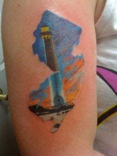 jersey tattoo mountains lighthouse steve