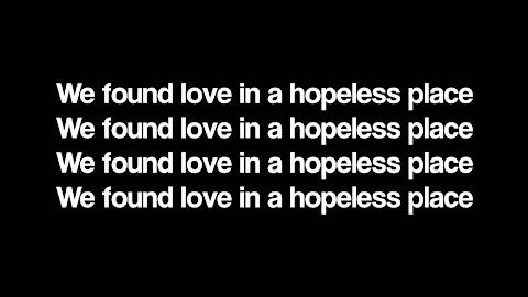 Rihanna We Fell In Love In A Hopeless Place Lyrics