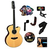 Yamaha CPX700II 12-string Acoustic Electric Guitar BUNDLE w/Legacy Acc Kit (Tuner,Picks, DVD and More)