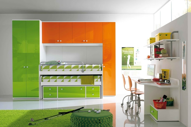 Ergonomic Kids Bedroom Designs for Two Children from LineaD ...