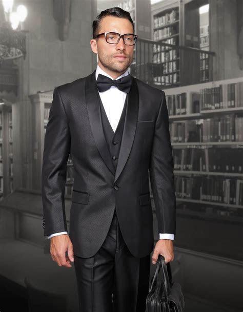 2016 New Arrival Black Mens Suit for wedding Jacket Pants