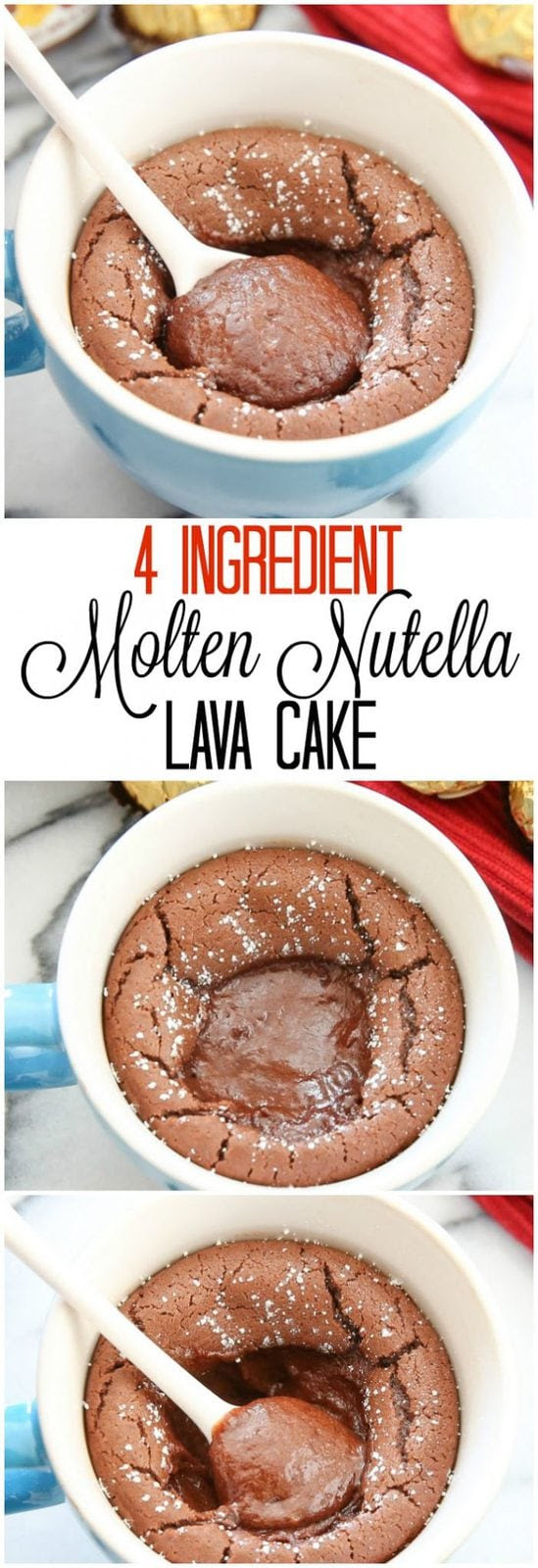 4 Ingredient Molten Nutella Lava Mug Cake - Kirbie's Cravings
