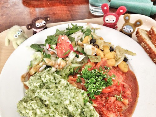 veg lunch at zucchini