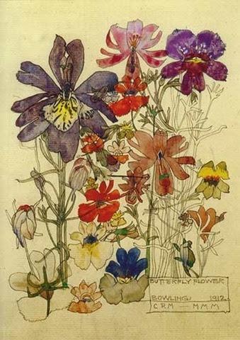 "Charles Rennie Mackintosh ""Butterfly Flower Bowling"""