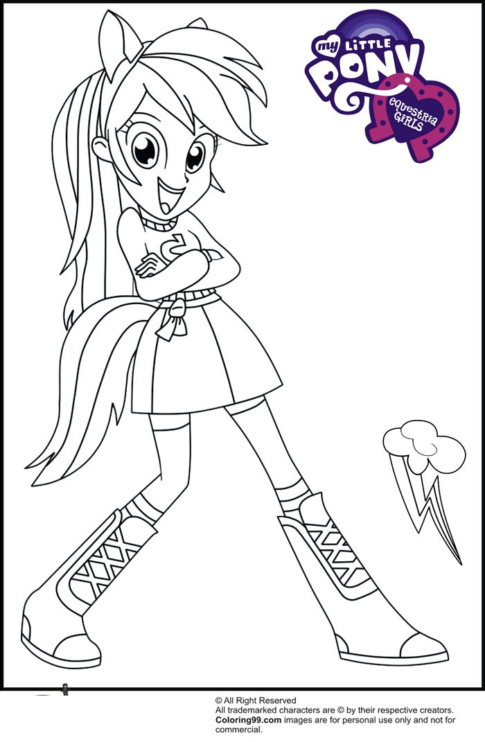 Coloriage Equestria Girls My Little Pony Coloriages Pour Enfants