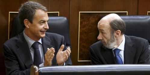 José Luis Rodríguez Zapatero y Alfredo Pérez Rubalcaba (EFE)