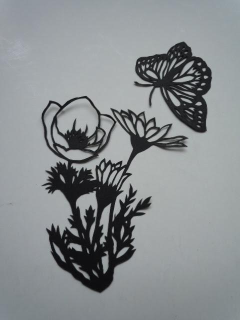 切り絵切り紙紙もの2012年その18 素敵な切り絵図案集より