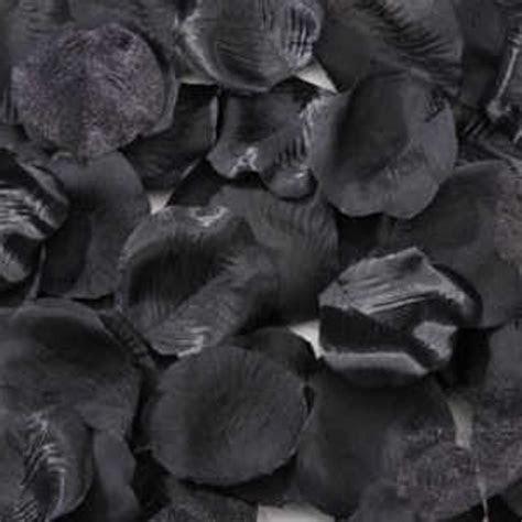 Black Silk Rose Petals   Silk Rose Petals & Leaves