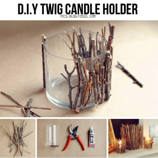 Diy Twig Candle Holder Centerpieces
