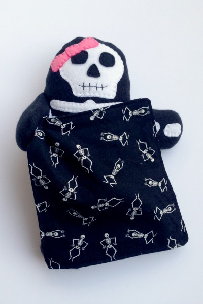 Skeleton Blankie Buddy - Blankie - Felt With Love Designs