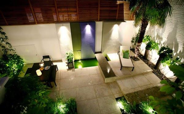 modern backyard lighting ideas | House Decorating Ideas