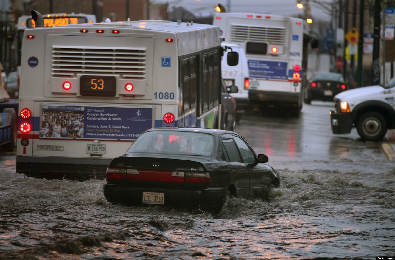 Chicago Flooding Heavy Rain Storm Prompts State Of