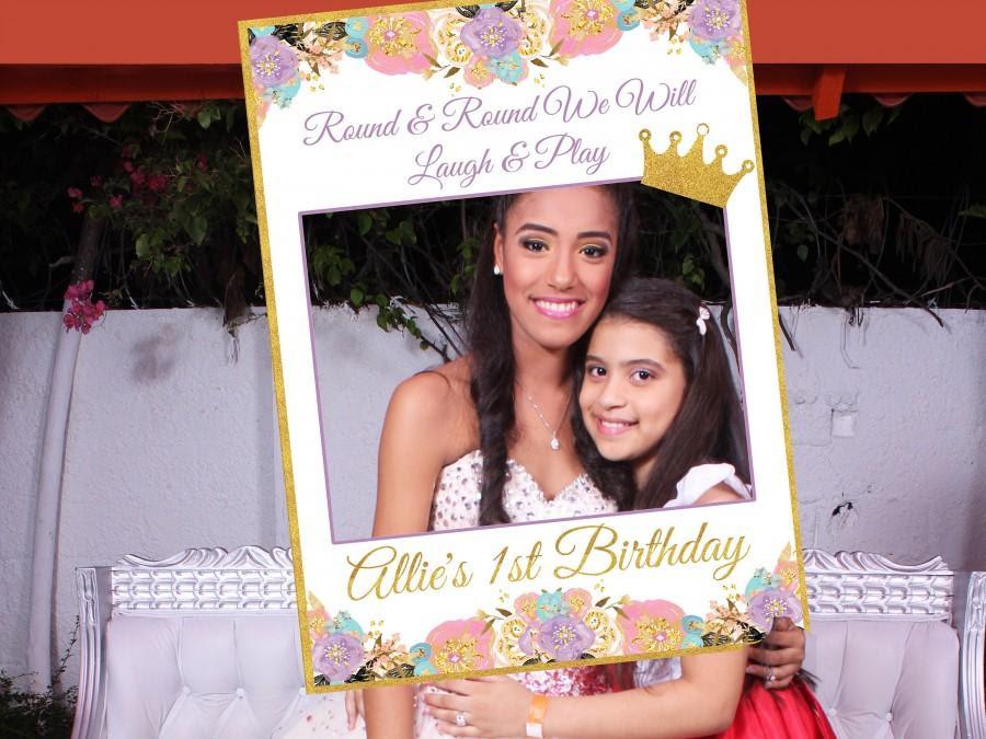 Large Princess First Birthday Photo Booth Prop Frame Girl Birthday