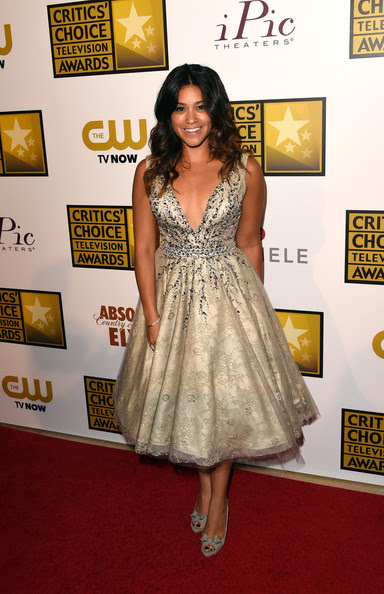 Gina Rodriguez - Arrivals at the Critics' Choice Television Awards