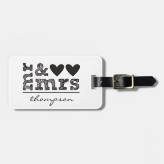 Mr. and Mrs. Luggage Tag
