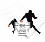 Football Wide Receiver Touchdown Silhouette Yard Art Woodworking Plan - fee plans from WoodworkersWorkshop® Online Store - football,sports,silhouettes,shadows,black,yard art,painting wood crafts,scrollsawing patterns,drawings,plywood,plywoodworking plans,woodworkers projects,workshop blueprints