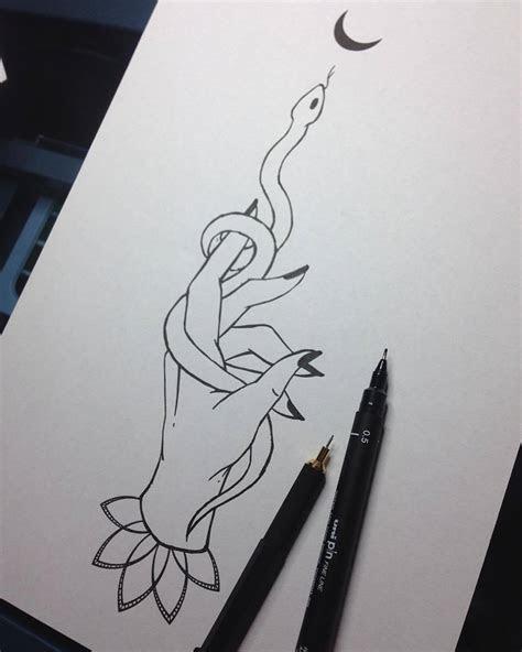 art goddess hand tattoo outline simple