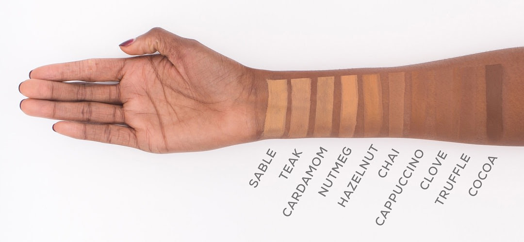 BareMinerals BarePRO Performance Wear Liquid Foundation Swatches
