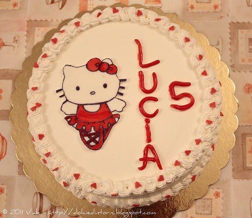 Torta compleanno Lucia 5 anni