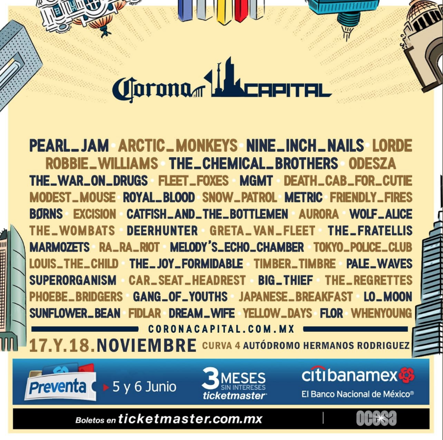 Cartel Corona Capital 2018 Nacion Grita