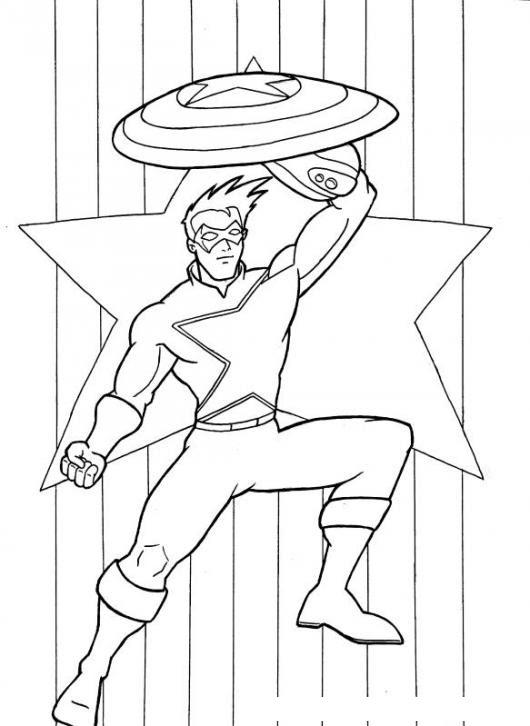 Capitanamerica Dibujo Del Captain America Para Pintar Y Colorear