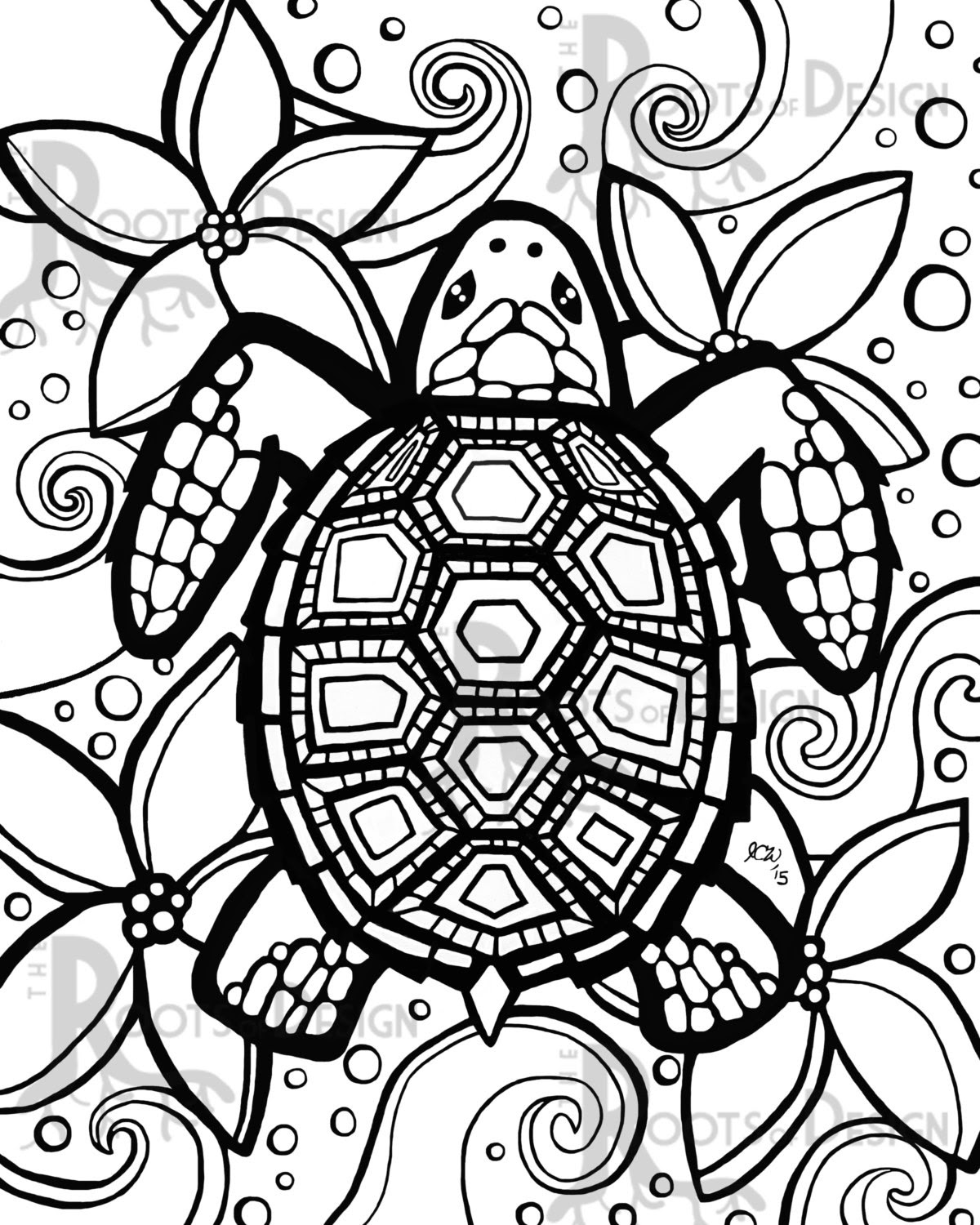 Turtle Coloring Pages To Print at GetColorings.com   Free ...