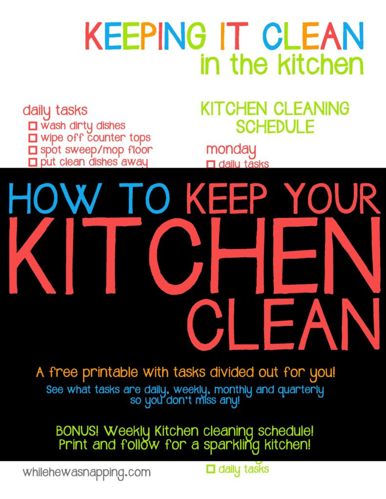 How to Keep Your Kitchen Clean | While He Was Napping