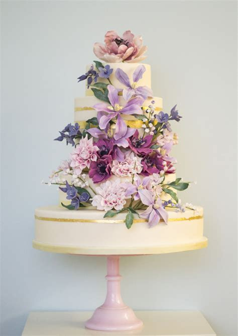 Floral themed wedding cakes photo gallery   HELLO!