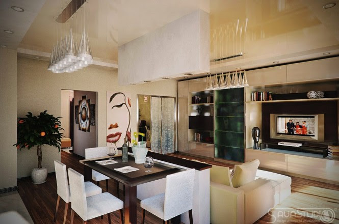 Modern dining room lounge