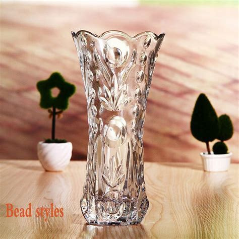 Sales promotion glass vases cheap import flowers vase