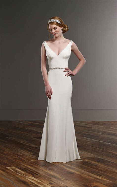 Sophisticated Silk Wedding Gown   Martina Liana Wedding