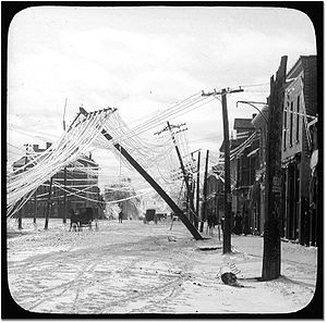A street in Elora after an ice storm - frozen ...
