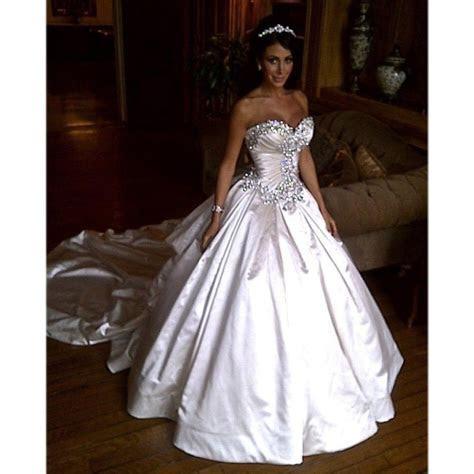 Ivory Bling Pnina Tornai Wedding Dress Sweetheart Ball