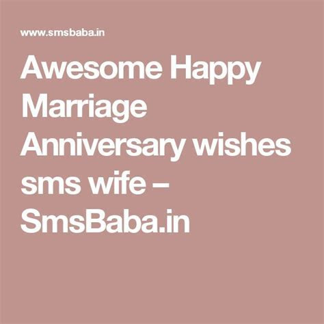 Best 25  Happy marriage anniversary sms ideas on Pinterest