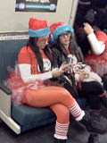 SantaCon 2012, 12.15.2012 SantaCon participants on BART.