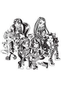 Coloriages Monster High à Imprimer Coloriages Dessins Animes