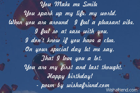 Girlfriend Birthday Poems